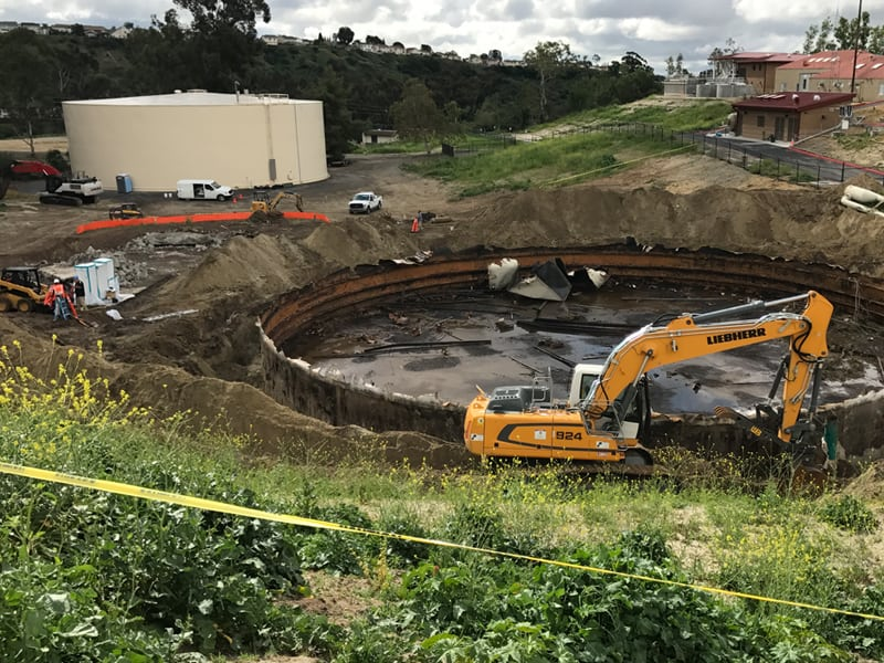 Steel Tank Demolition : Steel tank removal orange county demolition remediation